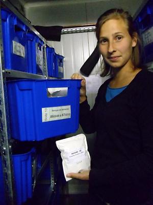 Chambre froide pour la conservation de collections de semences